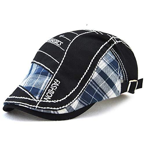 Casquettes souples Casquettes bonnets et chapeaux Tioamy B/éret Plate /Ét/é L/ég/ère en Coton et Lin Vintage R/étro pour Homme Casquette de journal