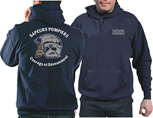 feuer1 Capuche WEAT (Bleu Marine/Bleu Marine) Sapeurs Pompiers Casque – Courage et dévouement – Neutre L Bleu Marine