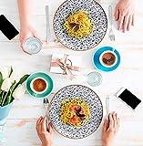 Sevenler Mediterran Geschirr-Set 24-teilig I orientalisches Essgeschirr I Tafelservice für 6 Personen I Moderner Kombiservice aus Premium Bone Porzellan I spülmaschinenfest und mikrowellenfest - 2