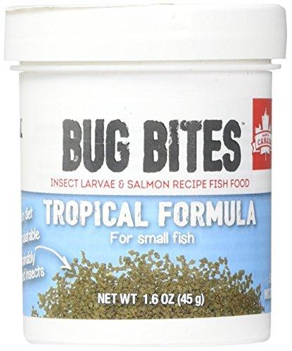Fluval Bug Bites Aliment Complet pour Poissons d'eau Douce, S-L, 1 Paquet (1 x 45 g)