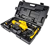 JEGS Hydraulic Porta-Power Ram Jack Kit   4-Ton Rating   4-3/4 Inch Stroke   10-1/2 Inch Minimum Height   12 Ounce Oil Capacity