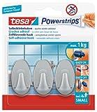 TESA 57519-00000 gancho para almacenamiento - ganchos para almacenamiento (Universal, Cromo, De plástico, Ampolla)