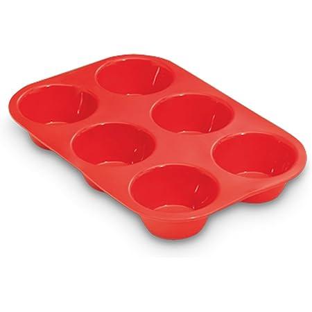 29 x 18 cm budini Set di 6 stampi per muffin di alta qualit/à e sano per 6 muffin lavabili in lavastoviglie 2 pezzi Homikit in acciaio INOX