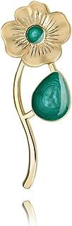 Broche de Pin Turquesa Accesorio Dorado para Lady