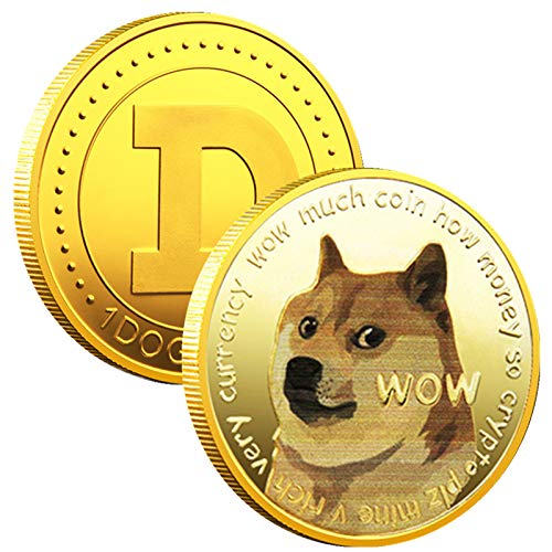 1PCS 1OZ Gold Dogecoin Commemorative Coin Gold Plated Doge Coin 2021...
