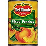 Del Monte, Sliced Peaches, Yellow Cling Peaches in Heavy Syrup, 15.25oz Can (Pack of 6)