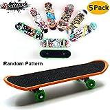 AumoToo Finger Skateboard, Pack de 5 minipastillas de Juguete Deck Truck Finger Board Skate Park Boy Kids Regalo de niños (Patrón Aleatorio)