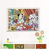 Ayjxtz Puzzle 1000 Piezas Ventana 3D 101 Vista de Cachorros dálmatas en Juguetes y Juegos Gran Ocio vacacional, Juegos interactivos familiares50x75cm(20x30inch)