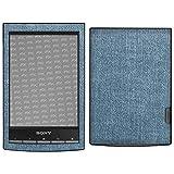 atFoliX Skin Compatibile con Sony PRS-T1 Reader, Sticker Pelle (FX-Denim-Blue), Tessuto Je...