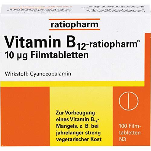 Vitamin B12-ratiopharm 10 µg Filmtabletten, 100 St. Tabletten