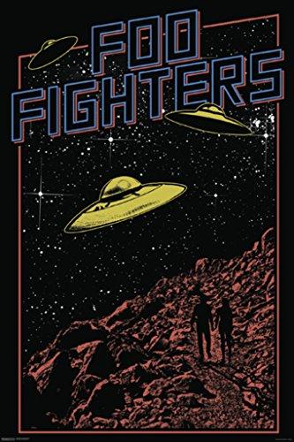 Foo Fighters UFOs Unisex Poster Standard Undefiniert 61 x 91,5 cm Band-Merch, Bands