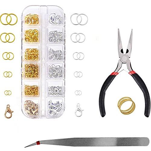 MMYAN Anillo de conexión de pulsera anillos de joyería anillos de división DIY anillos de enlace abierto anillo de salto collar anillos divididos para la reparación de la pulsera material