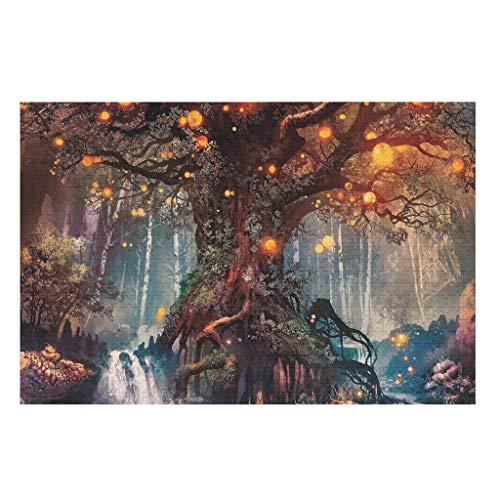 CCMugshop Spaß Jigsaw Puzzle Rot Baum des Lebens Laternen Wasserfall Fantasy Wald Wunderland Druck Puzzle 500/1000 Stück Family Game White 1000pieces