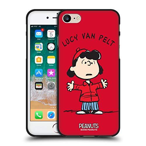 Head Case Designs Licenza Ufficiale Peanuts Lucy Van Pelt Personaggi Cover Nera in Morbido Gel Compatibile con Apple iPhone 7 / iPhone 8 / iPhone SE 2020