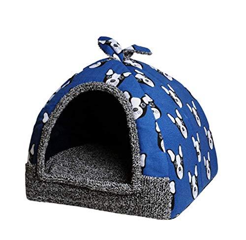 Anan Cama para mascotas para gatos y perros pequeños, plegable, cómoda tienda de campaña triangular (6, M)
