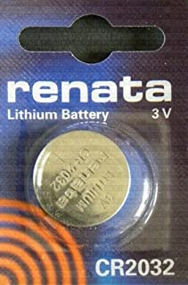 One (1) X Renata Cr2032 Lithium Watch / Key / Gadget Battery 3V Blister Packed