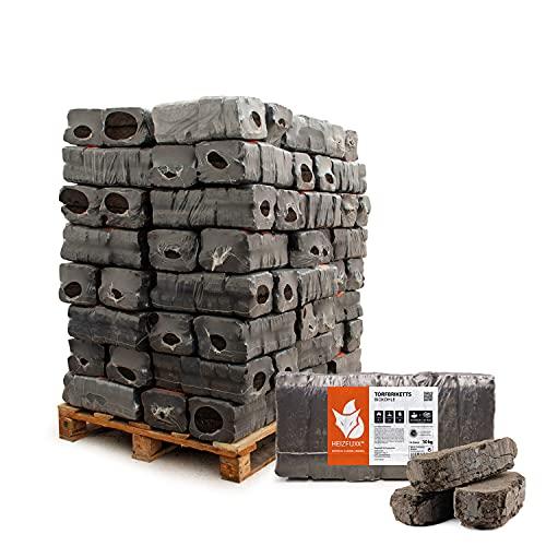 Torfbriketts Ruf Bio Braunkohle Torf Gluthalter Dauerbrenner Kamin Ofen Brenn Holz Heiz Kohle Brikett 10kg x 96 Gebinde 960kg / 1 Palette Paligo