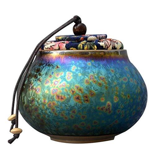 LILIS Urna cremación de Cenizas para Adultos de cerámica fúnebre Nuevo Monumento de urnas para Personas Hermosas, 10 × 10 × 10cm