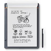 Wacom CDS-810S Bamboo Slate A4 - Cuaderno Digital para Apuntes y Dibujo, Compatible con Dispositivos iOS, Android y Windows, Incluye Bolígrafo, color Gris Medio