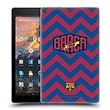 Official FC Barcelona Chevron Forca Barca Soft Gel Case Compatible for Amazon Fire HD 10 (2017)