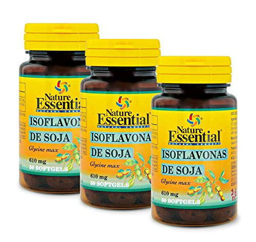 NATURE ESSENTIAL | Isoflavonas de Soja 620 mg | 50 Perlas. (Pack 3 unid.)