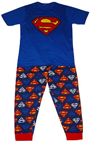 Superman DC Comics Herren Logo Zweiteiler Pyjama Set - Medium