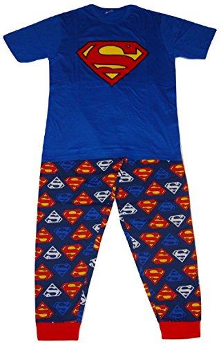 Superman DC Comics Herren Logo Zweiteiler Pyjama Set - XL