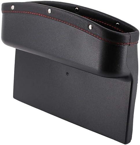 Ekron Car Seat Pockets Side Organizer Pu Leather Car Console Seat Gap Filler Catch Caddy 9.2x6.5x2.1 inch (Black – 1 ...