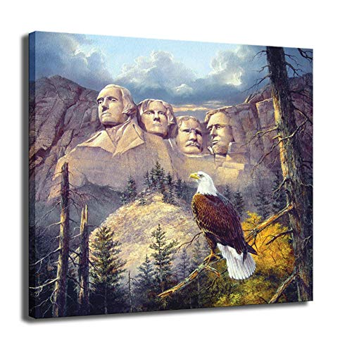 Capitol Hill Eagle canvas schilderij muur foto's voor de woonkamer VS tuindecoratie posters prints keukendecoratie thuis -50x50cm geen frame