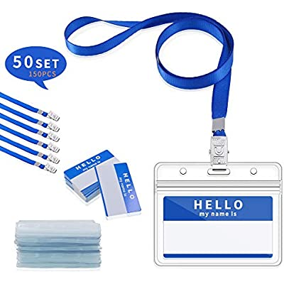 ➤ Cheap 'Gimars Waterproof Name Badge Holders with Lanyards