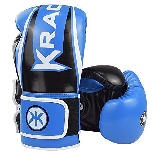 KRACE Kids Boxing Gloves, Youth Training Gloves for Boxing 6oz 8oz 10oz Muay Thai Fight Gloves Combat Training, 10oz