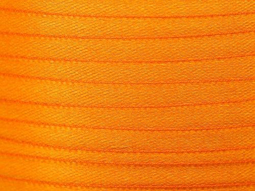 Import 22 M de Ruban en Satin Orange 6mm
