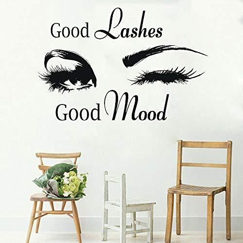 fdgdfgd Schönheitssalon Logo Dekoration Wandaufkleber Wimpern Wimpern Logo Vinyl Wandtattoos für Schönheitssalon Dekoration Poster