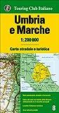 Umbria, Marche 1:200.000. Ediz. multilingue [Lingua inglese]...