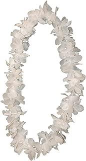 Non-Branded Tropical White Hawaiian Lei Polynesian Faux Flower Necklace
