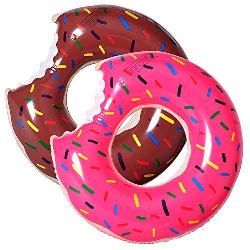YFGRD Anillo Gigante Fresa Donut Inflable de la Nadada, Gran