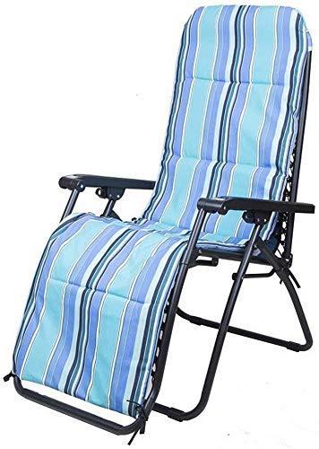 Sillones sillones sillas reclinables Tumbona al Aire Libre Suave Almohada fácil de Usar para cojín Ajustable para la Cabeza extraíble multiposición (Color: Almohadilla de algodón Azul)