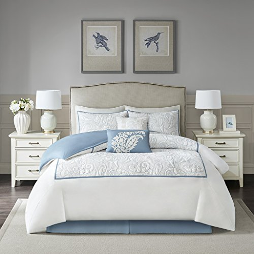 Harbor House Boxton 6 Piece Cotton Comforter Set Blue Cal King
