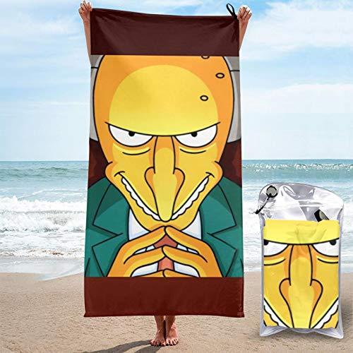 JJKKFG-H Simpsons schnell trocknendes Handtuch, Mikrofaser, leicht, für weiche Badetücher für Pool, Schwimmen, Reisen, Strandstuhl, Fitnessstudio, Sport, 80 x 160 cm