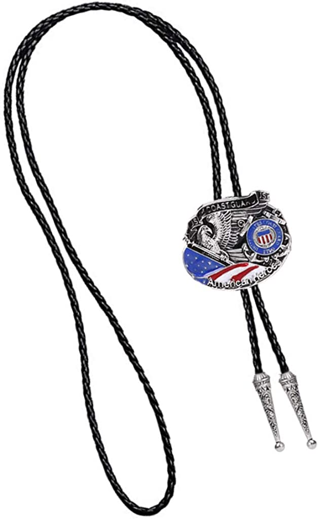 dailymall American Hero Police Officer Pendant Western Cowboy Vintage Rodeo Bolo Tie