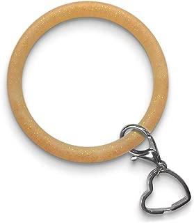 Zhaoyun Bracelet Key Ring Chain,Bangle Oversize Round Key Ring Wristlet Keychain Bracelet Bangle Keyring