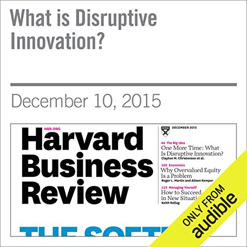 What is Disruptive Innovation? audiobook cover art