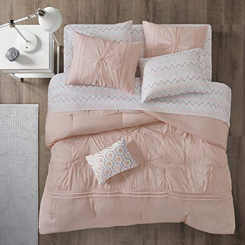 9 Pieces Embroidered Comforter By Intelligent Design