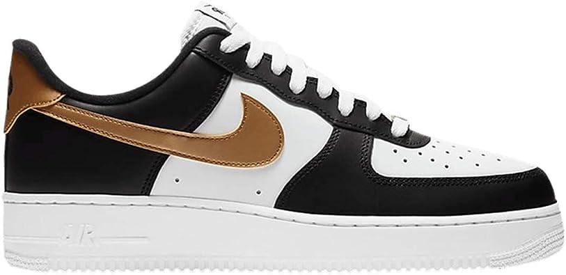 Nike Men's Shoes Air Force 1 '07 Black Gold CZ9189-001