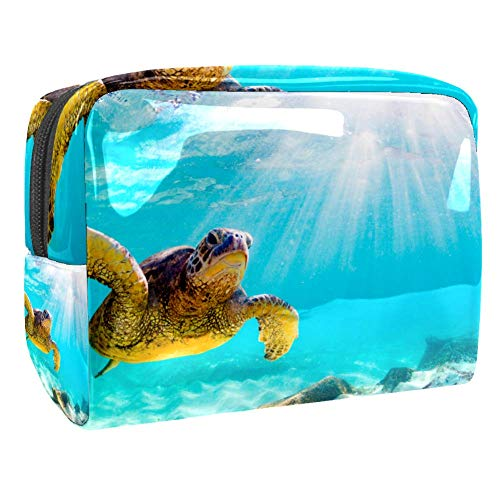 Maquillage Cosmetic Case Multifunction Travel Toiletry Storage Bag Organizer for Women - Sunset Underwater Sea Turtle