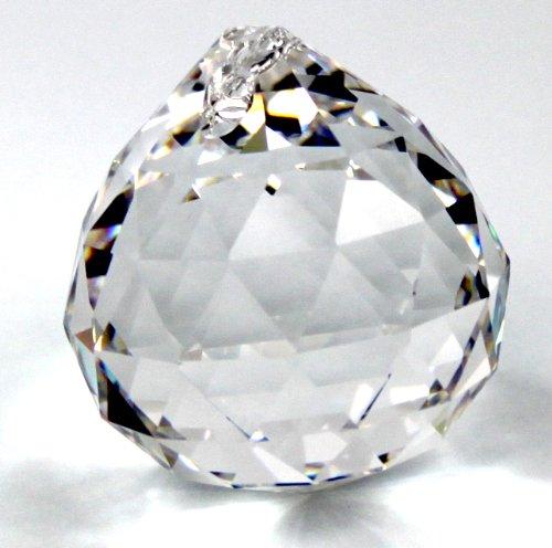 Kristall Glas Kugel 40mm - 30{ea5010addcce39463f3dae23056c71e2c7bfb03cbc612ef852ebfccc431435b9} PbO Bleikristall Vollschliff Feng Shui Kristall