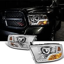 For [Angel Eye] 2009 2010-2018 Dodge Ram 1500 2500 3500 Halo LED Projector Diamond Chrome Headlights Headlamp