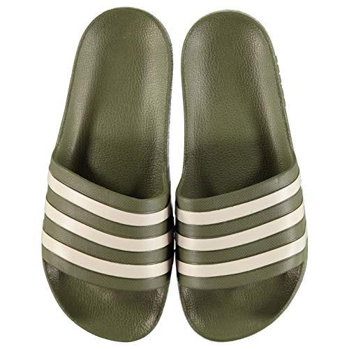 Adidas Duramo Slide da Uomo, Giallo (Giallo/Nero), 45 EU