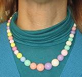 Mondial-fete - Collar de perlas grandes