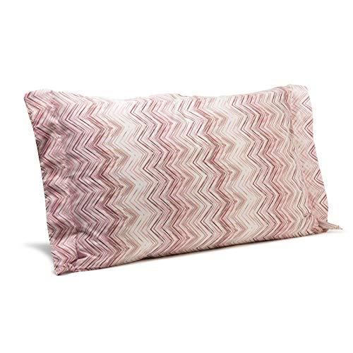 Caleffi Federa CM. 50x80 Textile in Cotone Rosa Geometrico